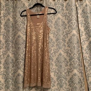Gold sequined dress NWT